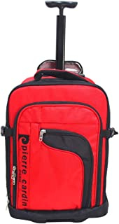 Pierre Cardin Wheeled Trolley Backpack, Red