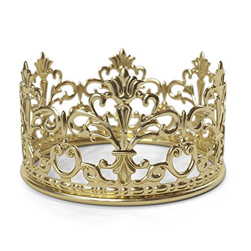 Gold Crown Cake Topper By The Preppy Crown: Elegant Cake Decoration For King, Queen, Prince And Princess Themed Parties