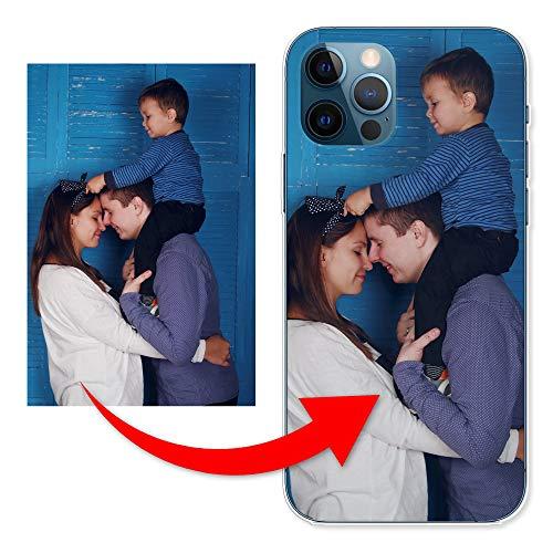 KX-Mobile Personalisierte Hülle für iPhone 12 Mini Handyhülle aus Silikon/TPU mit deinem eigenen Motiv - Dein eigenes Bild Selfie Design Foto