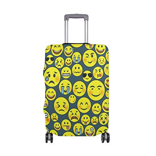 ALINLO - Funda para equipaje con diseño de emoticono de emoticono de llorar de 18 a 32 pulgadas