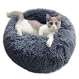 NXL Cama para Mascotas, Cama para Gatos Donut para Perros, Juguete De Felpa De Piel Sintética Pelusa, Cama con Cojín para Mascotas para Perros Y Gatos Pequeños, Medianos, Grandes,S