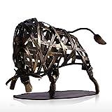 Tooarts- Escultura Metálica Hecha a Mano - Toro - Aparato de Hierro Decorativo para la Decoración del Hogar (Obra de...