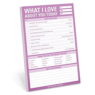 Knock Knock What I Love About You Today Pad (12275)
