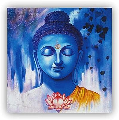 Alura Art N Frames AAF Buddha Vastu Canvas Home Decorative Painting (12 X 12 Inch)