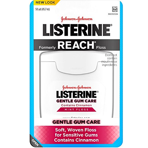 Listerine Gentle Gum Care Woven Floss, Mint (Pack of 6)