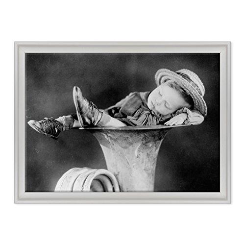 ConKrea schilderij op canvas, motief canvas - klaar om op te hangen - Anne Geddes Style Vintage 1927 - Trombone