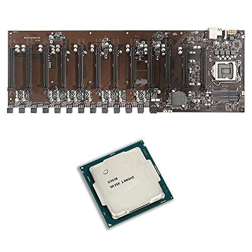 Placa base de minería B250 BTC-D12P Placa base de memoria DDR3 de 16 GB con placa base G3930 CPU Dual SATA3.0 para CPU LGA1151