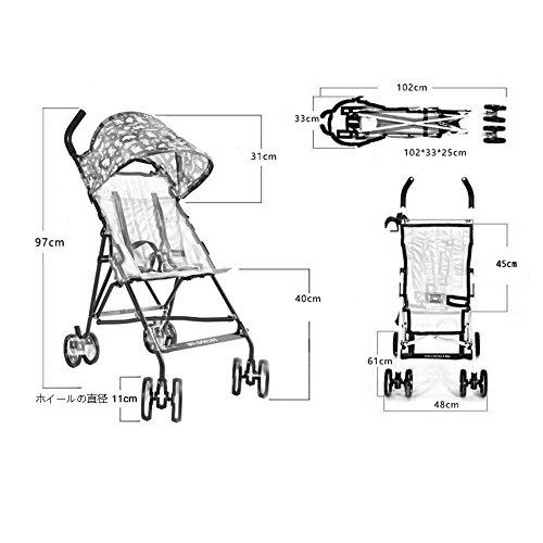 WAWDZG ZDDAB Baby Kinderwagen, Opvouwbare Baby Paraplu, Draagbare Mesh Stof Ultralight Kinderwagen Babywagen (Kleur : Kleur, Maat : Deluxe Edition)