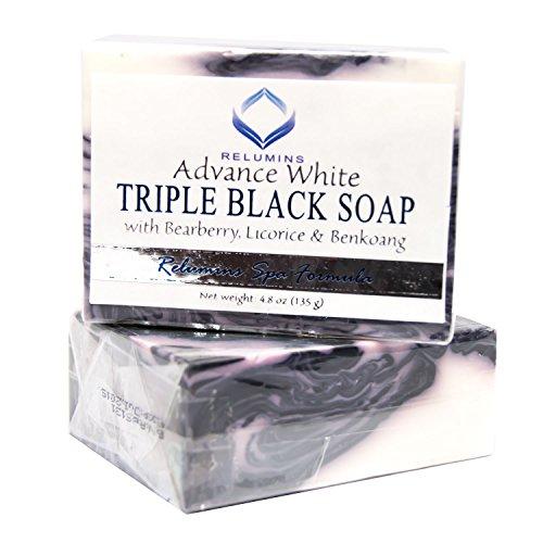 10 Bars of Relumins Professional Spa Formula Triple Action Black & White Whitening Soap - Maximum Whitening for Normal & Sensitive Skin