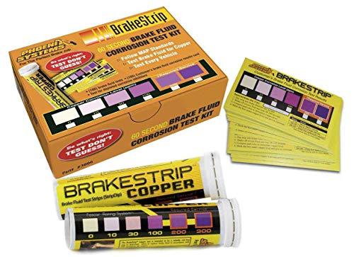 Phoenix Systems (3006-B) Brake Fluid Test Strip Kit, 100 Test Strips and 100 Rating Cards, BrakeStrip, FASCAR