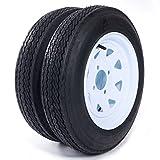 MILLION PARTS Set of 2 12' Trailer Tires & Rims 4.80-12 480-12 4.80 X 12 4 Lug...