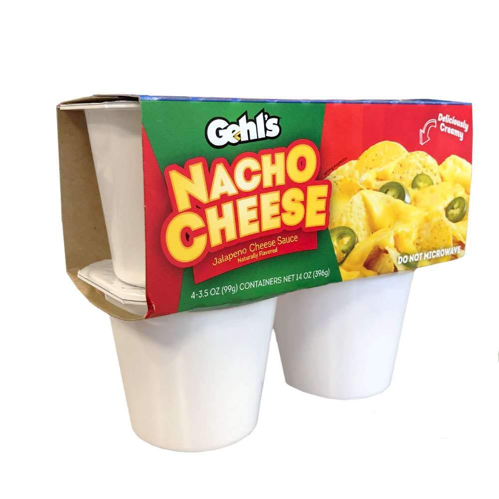 Gehl's Nacho Max 81% OFF Cheese Sauce Finally resale start 4-Pack 3.5 Total Cups Case Oz. 6 of