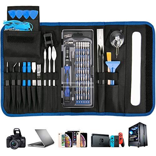 Luxebell Feinmechaniker Schraubendreher Kit, 88 in 1 Schraubendreher-Set mit Magnetbits Professionelles Reparatur Tool Kit für Mobiltelefone, Tablets, Spielekonsolen und Elektrorasierer