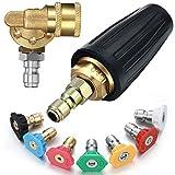 Mudder Pressure Washer Accessories Kit, 4.0 Pressure Washer Rotating Turbo Nozzle 4000 PSI 4.0 GPM, 1/4 Inch...