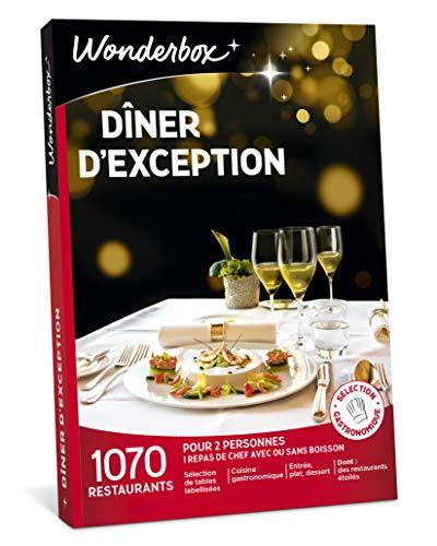 Wonderbox – Coffret cadeau fêtes des pères - DÎNER DEXCEPTION – plus de 1.000 restaurants gastronomiques renommés, labellisés ou étoilés pour 2 personnes