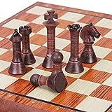 Happy Shop Ajedrez 2 en 1 magnético de ajedrez Checkers Juego de 31 * 36 cm Juego de Mesa Plegable Set Juego de ajedrez for niños y Adultos de ajedrez de Viaje De Madera