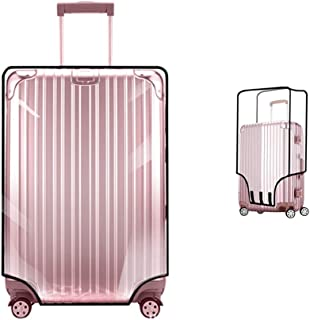 TopZK Clear PVC Suitcase Cover Protectors 20 22 24 26 28 30 Inch PVC Transparent Travel Luggage Protector for Carry on (22