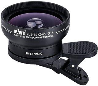 Kiwifotos 37mm 2in1 0.45X Wide Angle Lens+10X Super Marco Lens for Canon, Nikon, Fujifilm (KLS-37X045)
