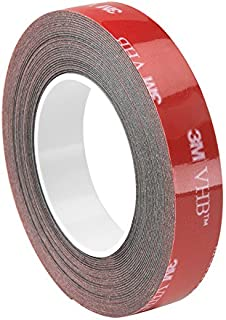3M VHB Tape 5915 Permanent Bonding Tape Roll- 1in. x 15ft. Conformable Black Tape with Acrylic Adhesive, UV Resistant