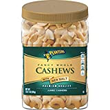 Planters Fancy Whole Cashews with Sea Salt, 2 LB 1oz (935g). Resealable Jar | Snack for Adults Made with Simple Ingredients | Good Source of Essential Nutrients | Kosher