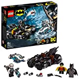 LEGO-DC Comics Super Heroes Mr. Freeze contre le Batcycle, Robin et Mr Freeze Jouet DC Comics Enfant 6 Ans et Plus, 200 Pièces 76118