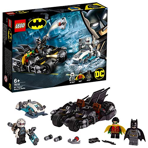 LEGO-DC Comics Super Heroes Mr. Freeze contre le Batcycle, Robin et Mr...