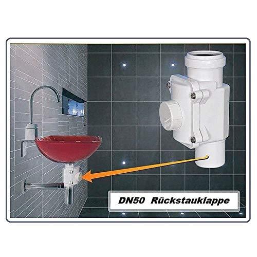 SENKRECHT Rückstauverschluss Ø DN50 nur für senkrechte Montage. Rückstauklappe, Rückstausperre, Rückstausicherung Abwasserrohr, Kanalrohr, Kanal, Rückflusssperre Rattenstop Rattenschutz, vertikal