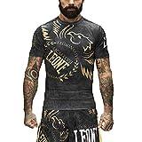 LEONE Rashguard Manica Corta Alessio Sakara Legionarivs AB925 MMA Crossfit Fitness Grappling (L)
