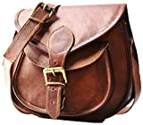 Satchel And Fable Handmade Women Leather Vintage Brown Cross Body Shoulder Bag Purse