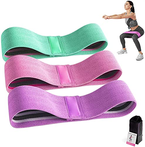 Bandas de resistencia para piernas y nalgas, bandas elásticas antideslizantes para ejercicio en sentadillas, cadera, círculo de resistencia