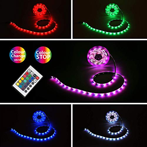 Preisvergleich Produktbild Briloner Leuchten Band 5m,  Farbwechsel,  silikonummantelt,  selbstklebend,  150 x RGB-LED 0, 16W,  Kunststoff,  24 W,  Weiß,  5x10x3mm (LxBxH)