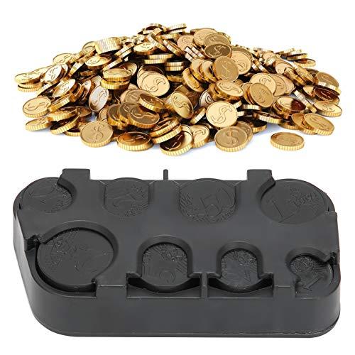 Uso del coche del dispensador de monedas de los titulares de monedas, caja de almacenamiento de monedas negra para barco con precio de autobús taxi