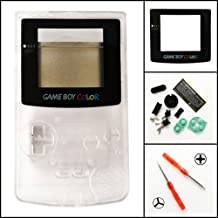 Gametown Full Housing Shell Pack for Nintendo Game boy Color GBC Repair Part-Clear White