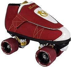 VNLA Royalty Jam Skate Mens & Womens Skates - Roller Skates for Women & Men - Adjustable Roller Skate/Rollerskates - Outdoor & Indoor Adult Skate - Kid/Kids Skates (Red/White/Gold)