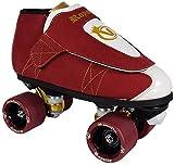 VNLA Royalty Kids/Adult Jam Skates   Quad Roller Skates for Women and Men from Vanilla - Mens/Ladies Womens Indoor Speed Skate Rollerskates for Men Women Boys and Girls (Red, White, Gold - Kids 4)