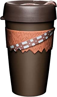 KeepCup 16oz Star Wars Reusable Coffee Cup. Lightweight BPA BPS-Free Plastic & Non-Slip Silicone Band. 16-Ounce/Large, Chewbacca