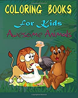 Coloring Books For Kids Awesome Animals: Wild Animals Coloring,learn coloring,Color Animals Coloring,Beautiful frame For K...