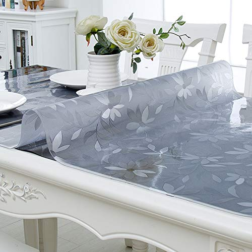 PVC-transparente tischdecke,Wasserdicht Anti-verbrühende isolierte Spitze Tischdecken,Couchtisch-untersetzer,Für Hotel Küche Partei-A 80x150cm(31x59inch)