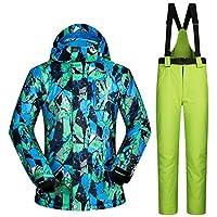 スキー服 防水服男性スキースーツ防風スキージャケットとパンツ男性の冬の暖かいスキーやスノーボードスーツジャケット+パンツ スキースーツ (Color : C, Size : XXXL)