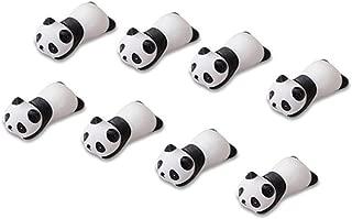 Dohuge 8 pieces Chopsticks Rest Set Japanese Style Ceramics Panda Shape Knife Rest Chopsticks Rest, Spoon Fork Knife Chopsticks Rest Holder