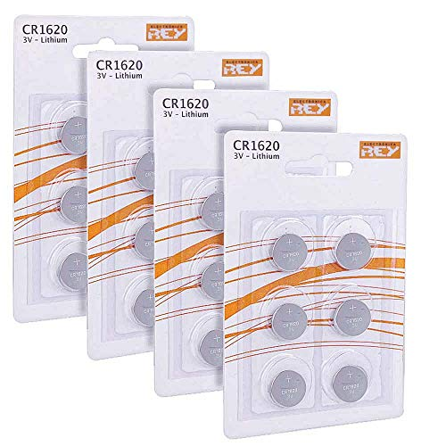 Pack 24x Alkali-Batterien Modell CR1620 3V Lithium, hohe Haltbarkeit