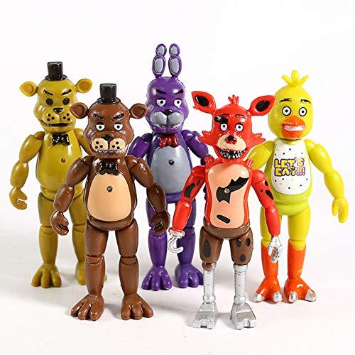 5 Unids / Set FNAF Five Nights At Freddy'S Freddy Bonnie Chica Foxy PVC Figuras De Acción Juguetes...