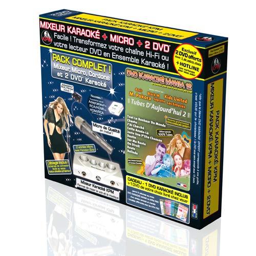 Pack Karaoké KPM Mixeur + 2 DVD + Micro - Tubes D'Aujourd'hui 2 [Francia]