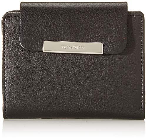 Gerry Weber Damen Geldbeutel Vigo Brieftasche aus Leder, Schwarz (Black), 1x10x12 cm (B x H x T)