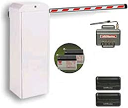 LiftMaster Mega Arm Tower (MATDCBB3) Parking Gate Including Two 12V/7AMP Batteries (MA004), Two 811LM Wireless Remotes, Caution Tape, Counter Weight & 15' Aluminum Round Boom