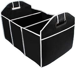 Estojo organizador dobrável para porta-malas de carro da Vicasky com vários compartimentos e alças reforçadas