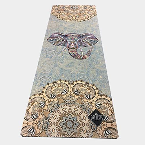 GEVJ Natuurrubber sportmat rubber antislip zachte comfortabele yogamat bedrukking yogamat fitness mat