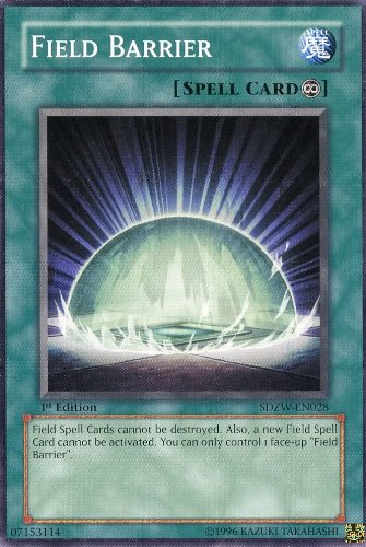 Yu-Gi-Oh! - Field Barrier (SDZW-EN028) - Structure Deck Zombie World - 1st Edition - Common