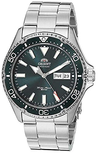 Orient Men's Kamasu Stainless Steel Japanese Automatic Diving Watch with Stainless-Steel Strap, Silver, 22 (Model: RA-AA0004E19A)