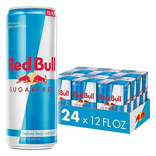 Red Bull Energy Drink Sugar Free 24 Pack of 12 Fl Oz, Sugarfree (6...
